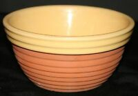 """VTG Yellow Ware Pottery Mixing Bowl TERRA COTTA """"A"""""""