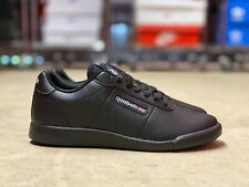 Reebok Princess Lite Low Womens Leather Walking Shoes Black AR1266 NEW Size 6.5