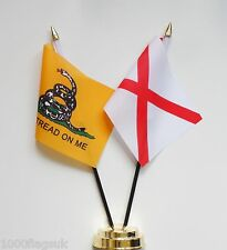 Gadsden & Alabama Double Friendship Table Flag Set