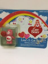 "1984 Care Bears ""Love-A-Lot Bear"" Offering A Bunch Of Roses In Box By Kenner"