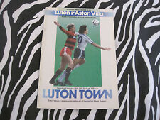 football programme - luton town v aston villa - sat 14th feb 1987