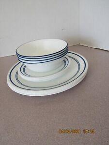 Corelle Casual Cafe Blue 12-Pieces,  Dinnerware Set, Service for 4
