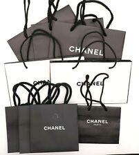 CHANEL Empty Shopping Gift Paper Bag 9P Set Black White-21