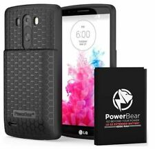 PowerBear LG G3 6500mAh Extended Battery With Cover