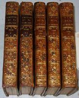 Caraccioli LETTRES DU PAPE CLEMENT XIV Ganganelli 1776-1777 4 t + 1 VIE Jésuites