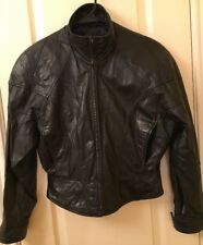 WILSON'S WOMAN'S LEATHER MOTORCYCLE JACKET, ZIP-OUT LINER, SIZE XS
