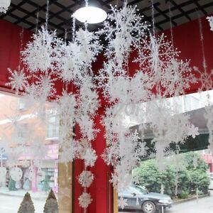 27/18cm Christmas Snowflakes Decoration White Tree Party Ornaments Xmas Outdoor