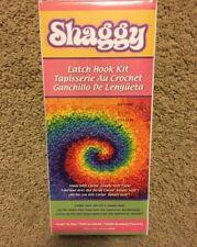 New ! Shaggy Latch Hook Kit ~ Small Tie Dye 12x12