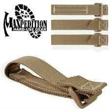 "(4) Maxpedition TacTie 3"" Strap Khaki Tan Backpack Tac Tie"