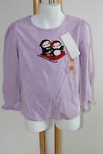 Gymboree Holiday Penguin Chalet Baby Girls Size 3T Lavender Top Shirt NWT