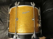 "VINTAGE ROGERS ""NEWPORT"" MARCHING SNARE 10x14 + CASE RARE GOLD SPARKLE!  1960'S"
