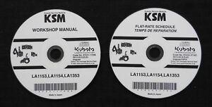 KUBOTA M5040 M6040 M7040 M8540 TRACTOR LA1153 LA154 LA1353 LOADER REPAIR MANUAL