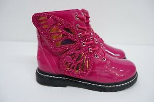 Lelli Kelly Girls Patent Leather Boots, Eu33, Uk 1, Pink Patent Leather, VGC