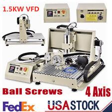 New Listingusb 4axis Cnc 6040 Router Engraver Millingdrilling Machine Vfd Spindle 1500w Us