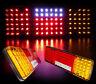 PAIR OF 12V REAR STOP 98 LED LIGHTS INDICATOR FOG LAMP TRAILER TRUCK TIPPER VAN