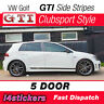 VW Golf GTI MK7 MK7.5 Side Stripes Graphics 5 door stickers Clubsport Style