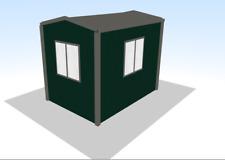 Steel Framed Buildings - Gatehouse - 2.13m x 3.04m x 2.4m >7' x 10' Sentry Lodge