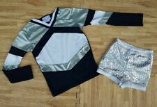 New Girl S/M Cheerleader Uniform Top Sequin Dance Shorts 25-27/21-24 Cosplay