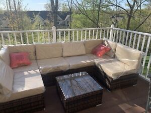 PE Wicker Outdoor Sectional Furniture Rattan Patio Sofa Outdoor Couch