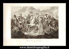 ROCROI ARDENNE FRANCIA BATTAGLIA MILITARIA STAMPA ORIGINALE 1842