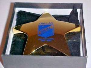 SKAL Group 2003, 50th Anniversary Award, 12oz Star Design Paper Weight, Exc Cond