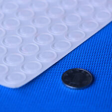 """64 PIECES NEW SELF ADHESIVE FLAT ROUND CLEAR RUBBER FEET BUMPERS, 0.5""""D X 0.06""""H"""