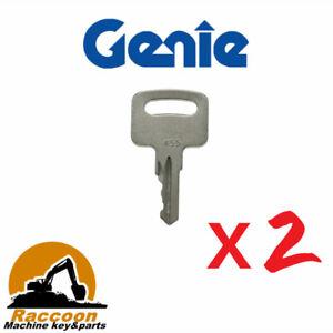 2pc 455 Key For Various Genie Vermeer Terex Snorkel Skyjack kubota Whisper Ronis