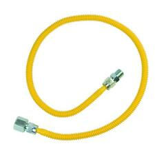 ProCoat 1/2 in. FIP x 3/8 in. MIP x 36 in. Stainless Steel Gas Connector LINE