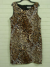 Kasper Separates dress 18 shift sleeveless animal leopard print lined fitted