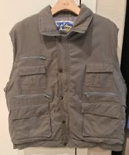 VINTAGE Haband Stag Hill Hunting Utility Button Vest Gray Mens Large