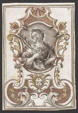 Santa Saint CECILIA Hl. Cäcilia Kupferstich 18.Jh. Incisione Holy Card - Kilian