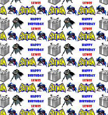 Personalised Gift Wrapping Paper BATMAN Birthday Any Name! Large Sheet! BBV2