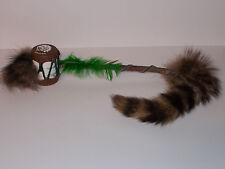 Fabriqué à la main, Canadian folk art instrument avec Racoon queue-Adorable objet!