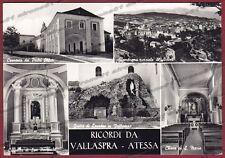 CHIETI ATESSA 03 VALLASPRA - SALUTI da... Cartolina FOTOGRAFICA viaggiata 1960