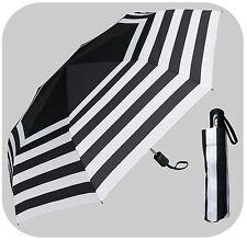 "42"" Arc Stripe Mini Auto-Auto Rain Umbrella - RainStoppers Rain/Sun UV"
