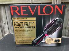 Revlon PRO Collection Salon One Step Hair Dryer & Volumizer Brush Pink - New