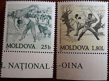 Moldawien 1999: Nationale Sportarten: Trânta, Oina postfrisch Mi-Nr.310-311