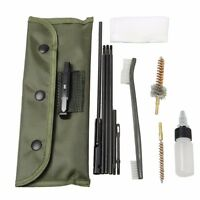 Airsoft 10 Piece .22 22LR .223 556 Rifle Gun Cleaning Kit Nylon Brush with Pouch