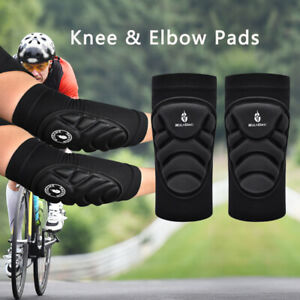 Cycling Skateboard Skiing Protective Gear Sport Knee & Elbow Pads Brace Guards