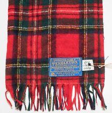 Vintage Pendleton Red Tartan Plaid Scarf100% Pure Virgin Wool *US Made* 46x12in