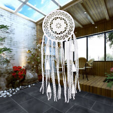 Handmade Hanging Dreamcatcher Wind Chime Home Yard Garden Decor Ornament White