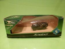 SOLIDO  6049 MILITARY JEEP US - ARMY GREEN 1:43 - GOOD CONDITION IN BOX