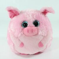 Ty Beanie Ballz Beans Pig Plush Stuffed Animal Pink Medium 2011