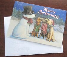 Merry Chrismutts! Dogs Caroling Wag in Tail Christmas Cards Box of 10 Card