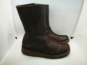 Clarks brown leather ankle boots size 4