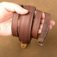 Leather Strap Handmade Neck Shoulder Belt Black Brown For Sony Leica Fuji Camera