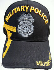 MILITARY POLICE VETERAN Cap/Hat w/Embroidered Badge Black Military Free ship !