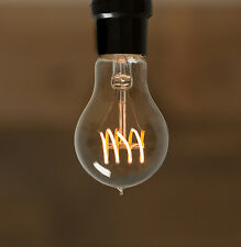 Led Edison Bulb - A19 - Antique Loop Curved Filament- Vintage Style - 4W -