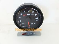 APEXI JDM Racing E.L. II System 10K RPM Meter Mechanical Gauge Black/White Face