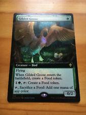 Mtg Throne of Eldraine Gilded Goose Extended Art FOIL NM
